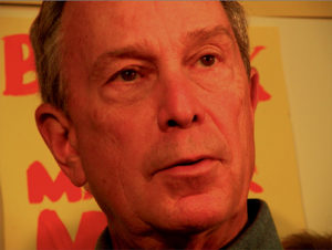 Michael Bloomberg speaking at the Bronx campaign office opening. Picture: Holly Van Voast