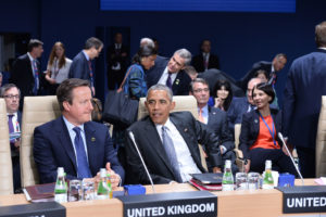 David Cameron (UK Prime Minister) and Barack Obama (US President)