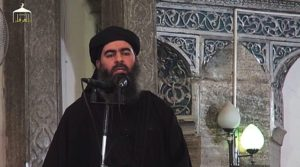 Abu Bakr al-Baghdadi declared the Islamic caliphate in Mosul. Credit: Youtube.com