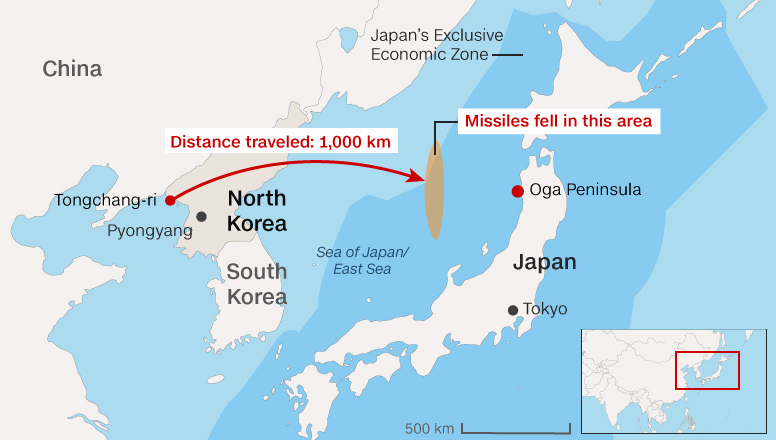 Is North Korea Planning To Attack Japan Globalo - Japan map korea
