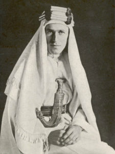 "owell Thomas. ""With Lawrence in Arabia"", book is in public-domain, full text available at Archive.org; originally from University of Toronto"