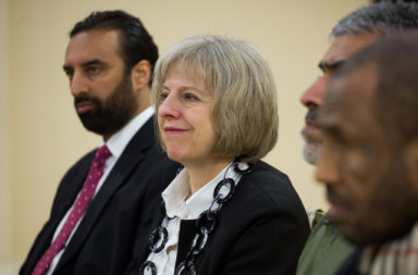 Theresa May at Al Madina Mosque
